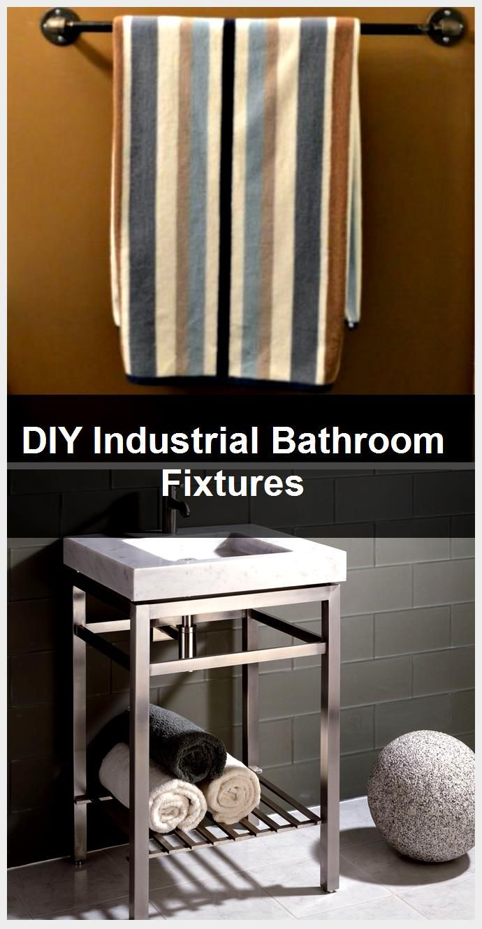 Photo of DIY Industrial Bathroom Fixtures,  #Bathroom #DIY #Fixtures #industrial