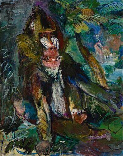 THE MANDRILL by Oskar Kokoshka
