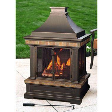 Sunjoy Dixon Fire Place Outdoor Wood Burning Fireplace Outdoor Fireplace Wood Burning Fireplace