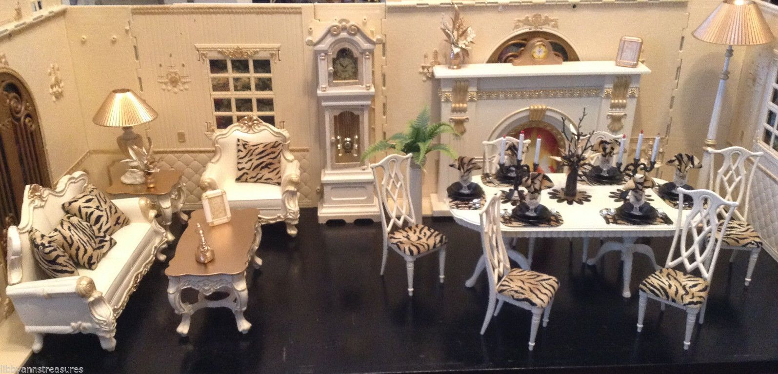 doll house dining room furniture set w extras dining room furniture