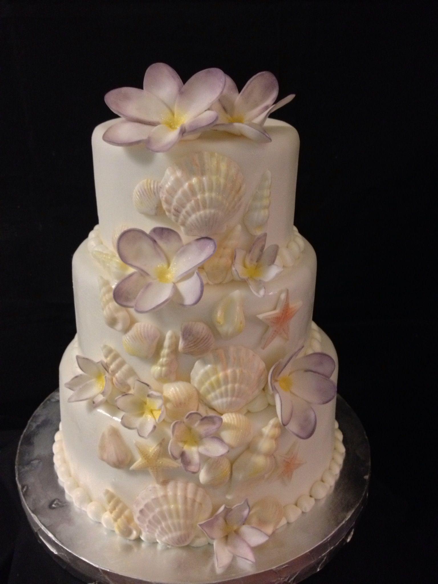 Hawaiin Sea Shell Wedding Cake Food Yum Pinterest Wedding