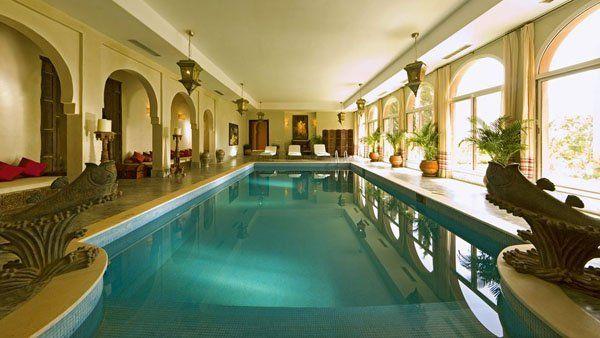 Beautiful Luxury Moroccan Getaway Indoor Pool Indoor Swimming Pools Beautiful Pools