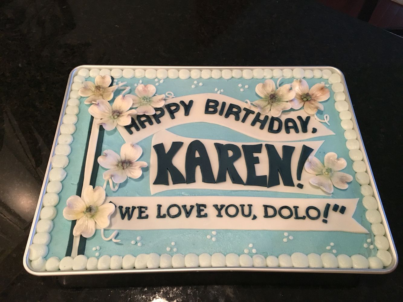 Happy Birthday Karenipping Your Cake To Youhope It Arrives