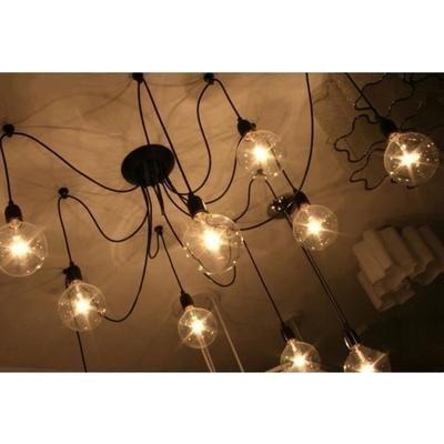 8 Ampoules de Lustre Vintage Lampe Applique Plafond Rétro pour Salon - lustre pour salle a manger