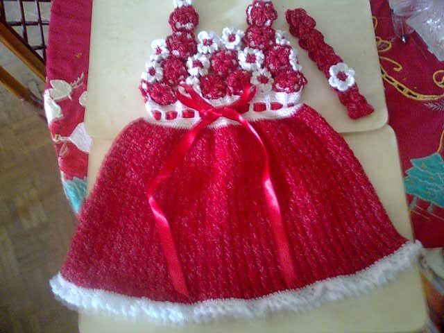 Vestido Tejido A Crochet Para Niña De 3 Años Vestidos