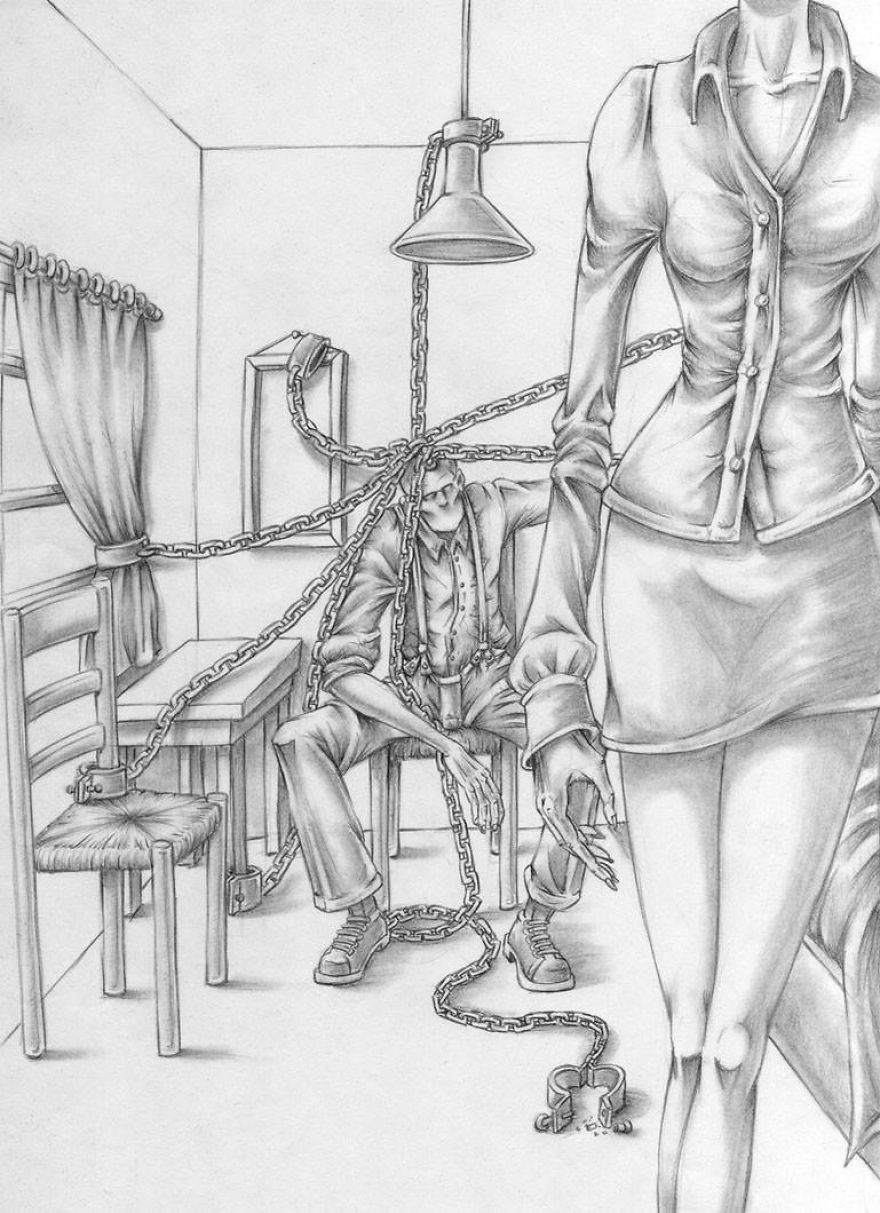 Whats wrong with todays society captured in 10 though provoking illustrations by al margen