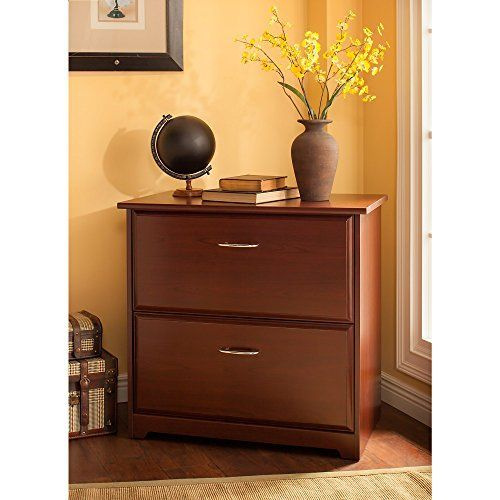 The Bush Furniture Cabot Lateral File Cabinet In Harvest Cherry Is A Great  Option To Organize
