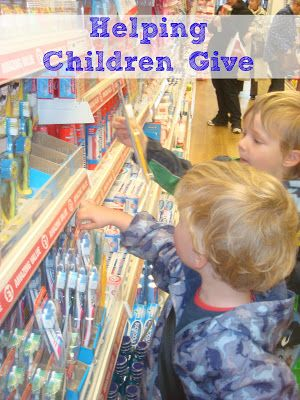 Helping children give, taking part in Operation Christmas Child
