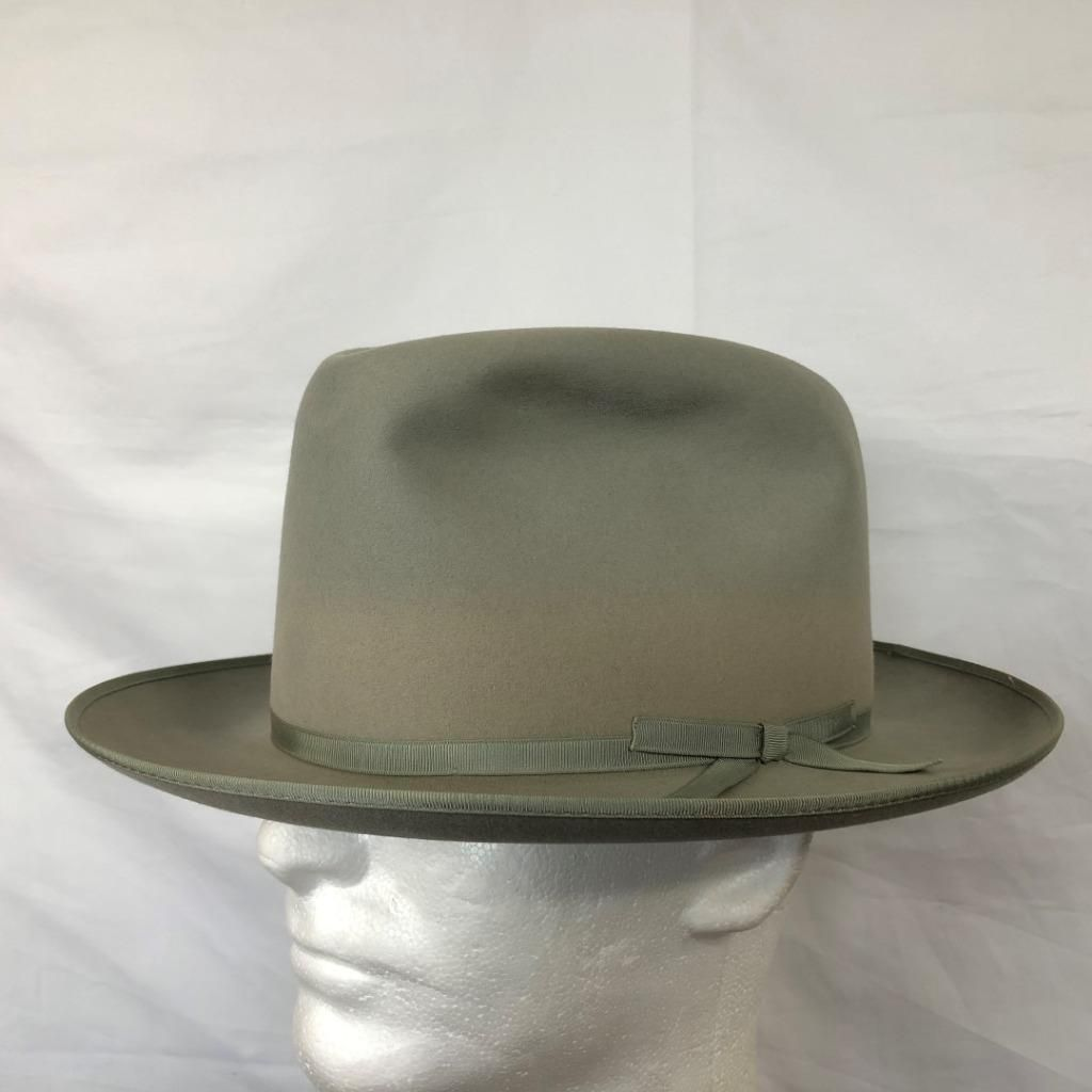 882be96da951ed VINTAGE ROYAL STETSON STRATOLINER LIGHT GRAY FUR FELT WIDE BRIM FEDORA 7  1/8 | eBay