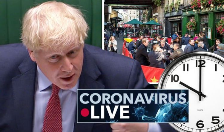 Coronavirus map LIVE: Boris Johnson's 10pm curfew could be ditched by rebels tomorrow