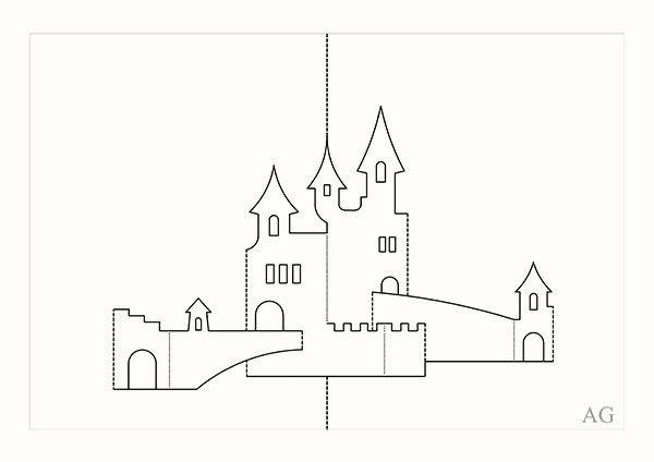 Киригами шаблоны для вырезания архитектура распечатать, для