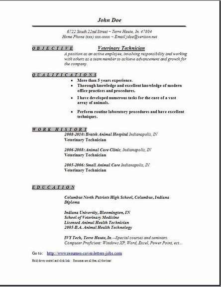 Veterinary Assistant Resume Examples Resume Format Veterinary Doctor  Pinterest  Resume Format And .