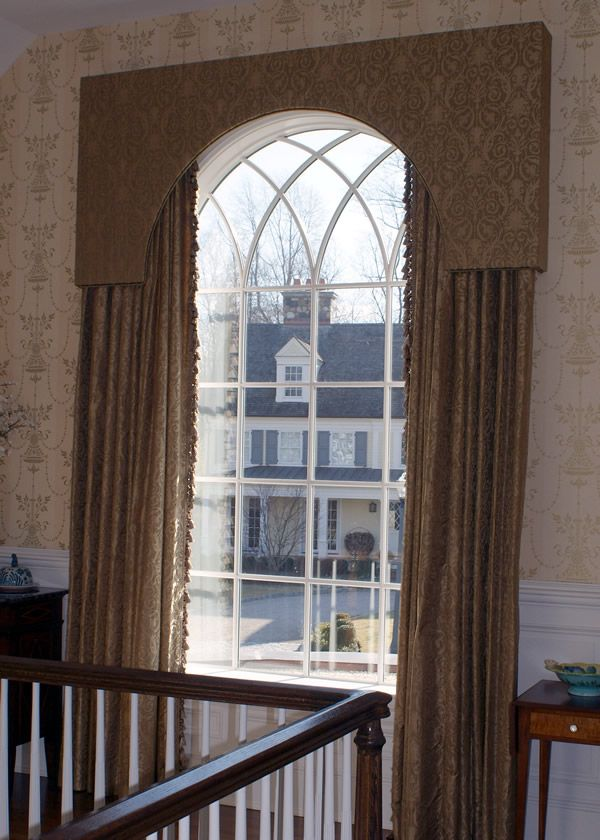 Window Treatment Idea For Arched Window Arched Window