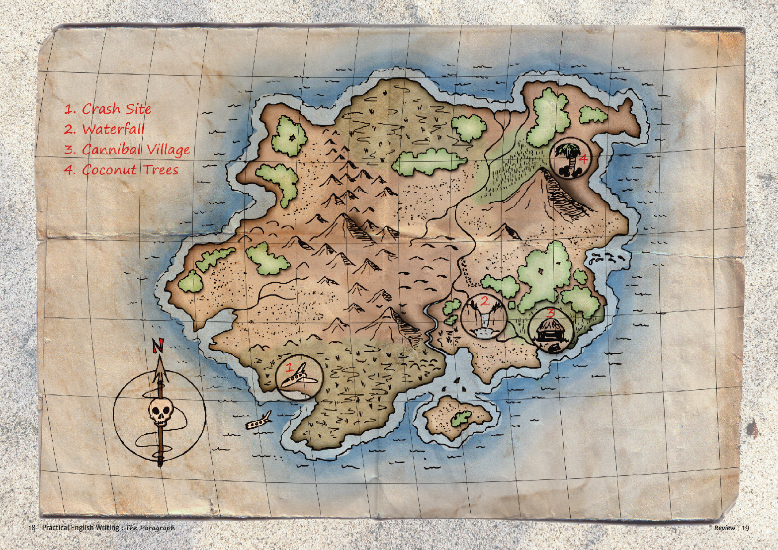 Desert Island Map Drawing Di