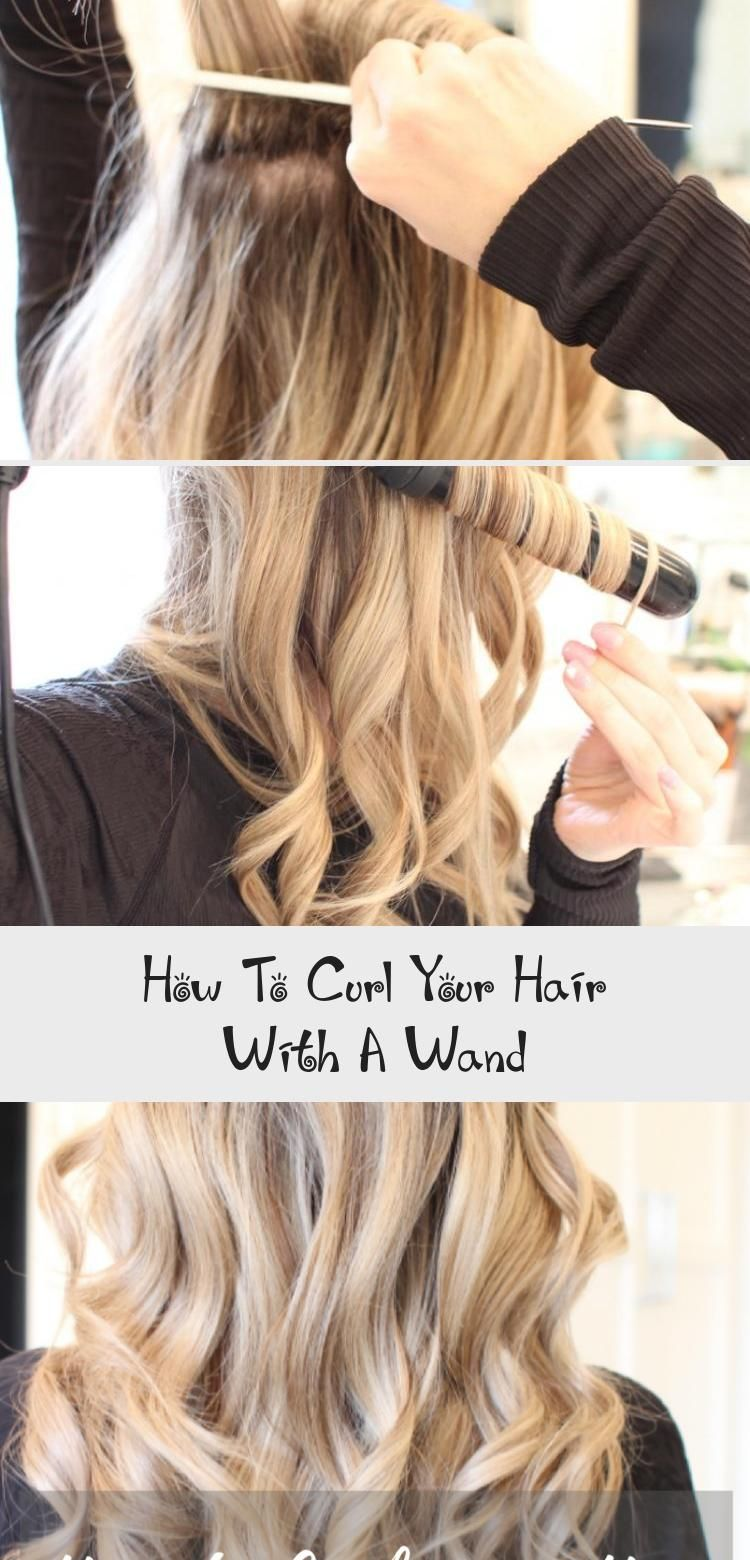 How To Curl Your Hair With A Wand Curls Wet Brush Curling Wand Hair Tutorial Curlsandcashmere Com In 2020 How To Curl Your Hair Wand Curls Curling Hair With Wand