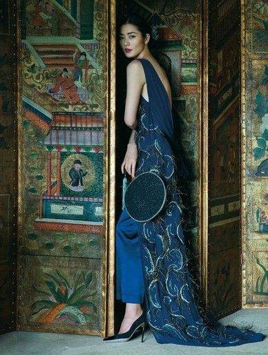 Harper's Bazaar China December 2015 | Liu Wen | Sun Jun