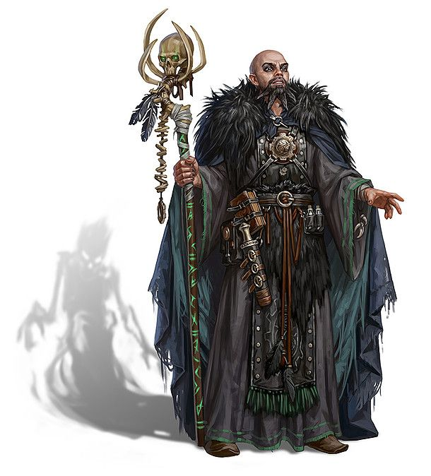 m Wizard Staff skull Robes LE Urban underdark mage  Storm Bunny Studios