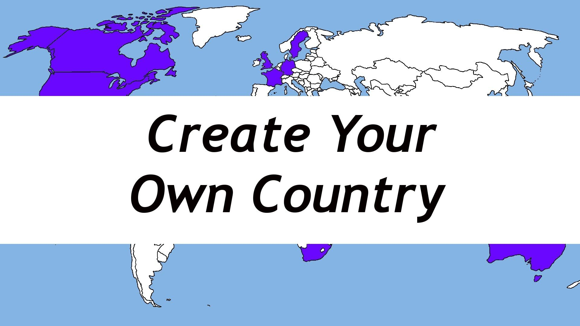 Create your own country global awareness pinterest for Create your own building