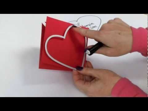 Explosion Heart Card with Kelly Gettelfinger | Heart cards ...