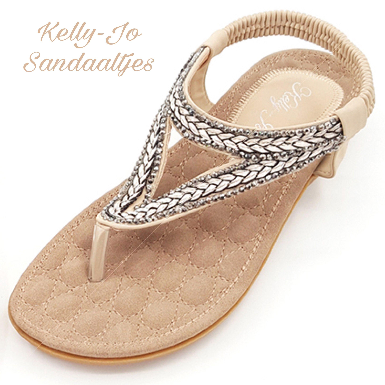 Kelly-Jo sandaaltjes zijn hippe slippers met een voetbed voor vrouwen die.