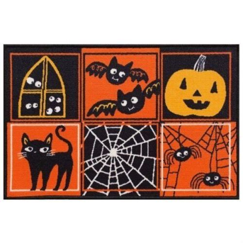 Midnight Market Halloween Floor Mat Printed Rug 20 Patchwork Rugs Rugs Halloween Prints