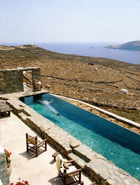 Villa Drakothea, Mykonos, Greece #water spaces #architecture #water #water architecture