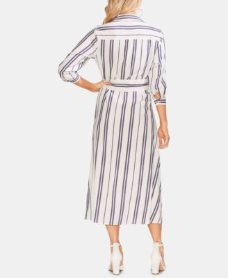 3a01f154d9f Vince Camuto Striped Shirtdress - White XL in 2019