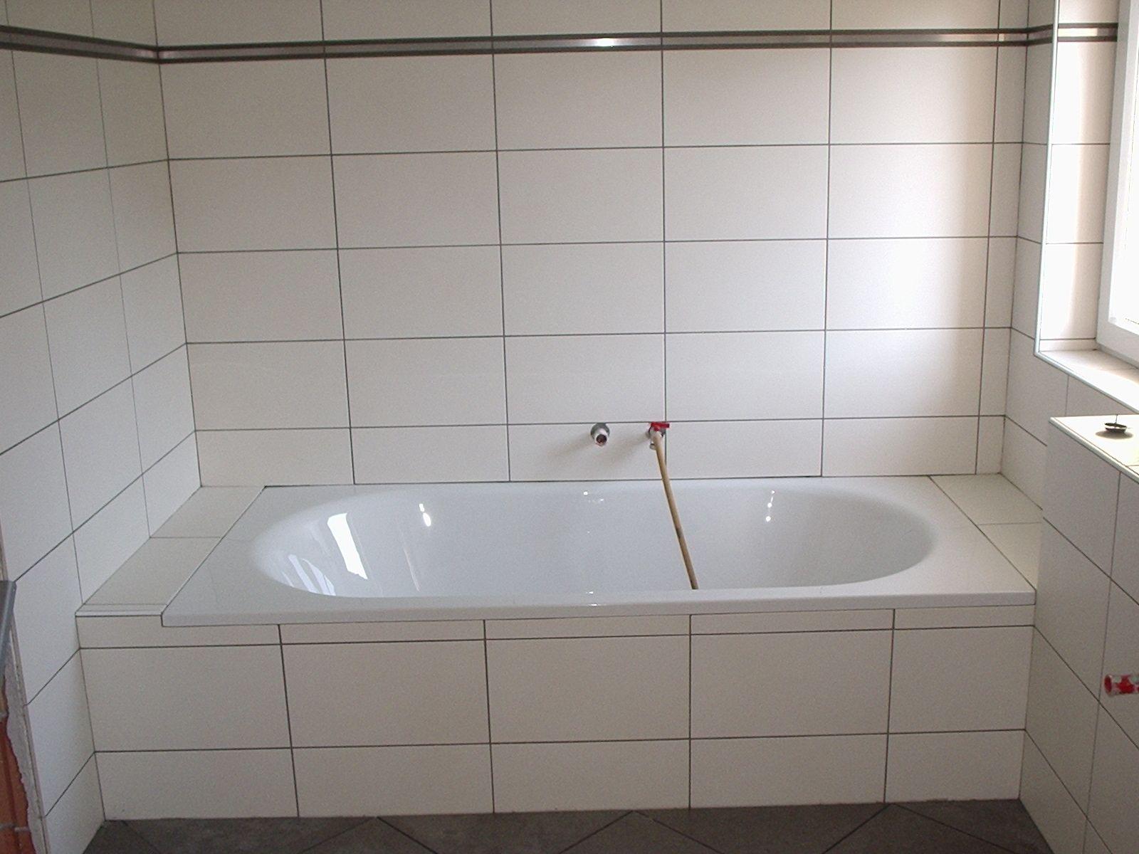 Badewanne Fliesen Kreative Wandgestaltung Badezimmer