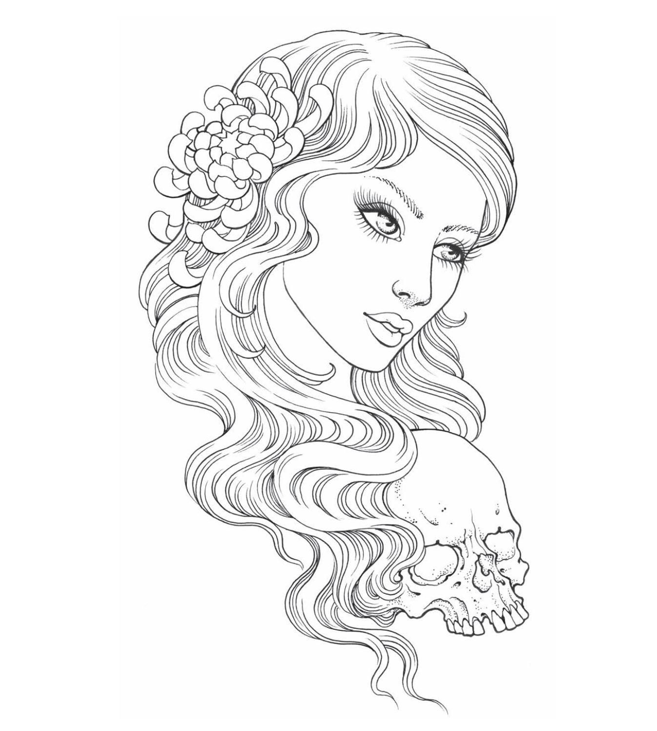Flash Tattoo style, Adult coloring book pages, Colouring