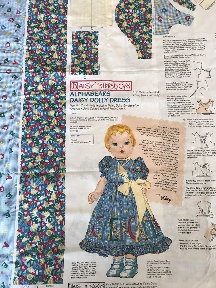 Cotton Fabric ALPHA BEARS CHILDS FABRIC Quilting* Dressmaking * Craft