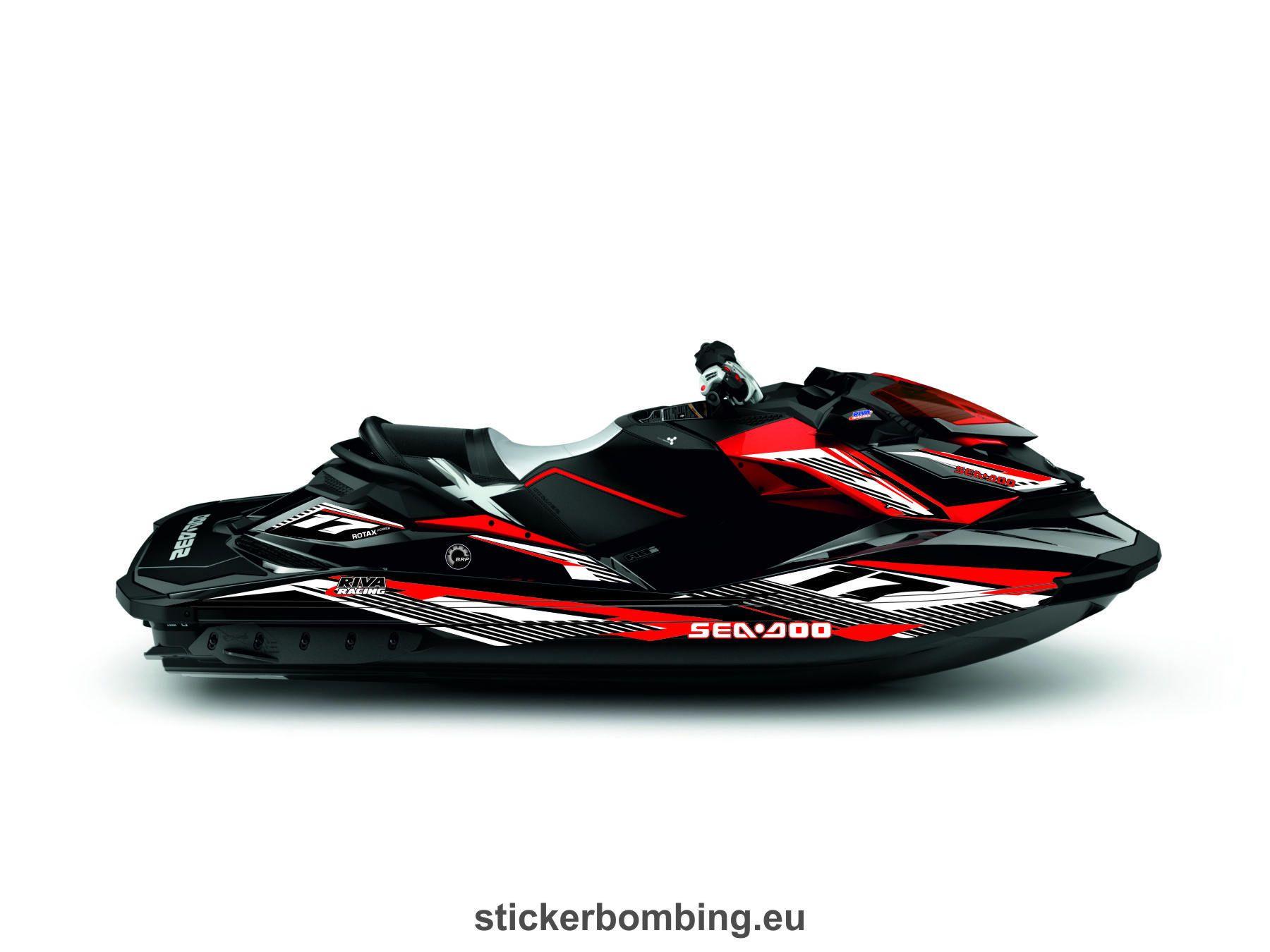 Sea Doo Rxp X 260 Rs Jet Ski Full Set Stickers Jet Ski Seadoo Jetski Seadoo