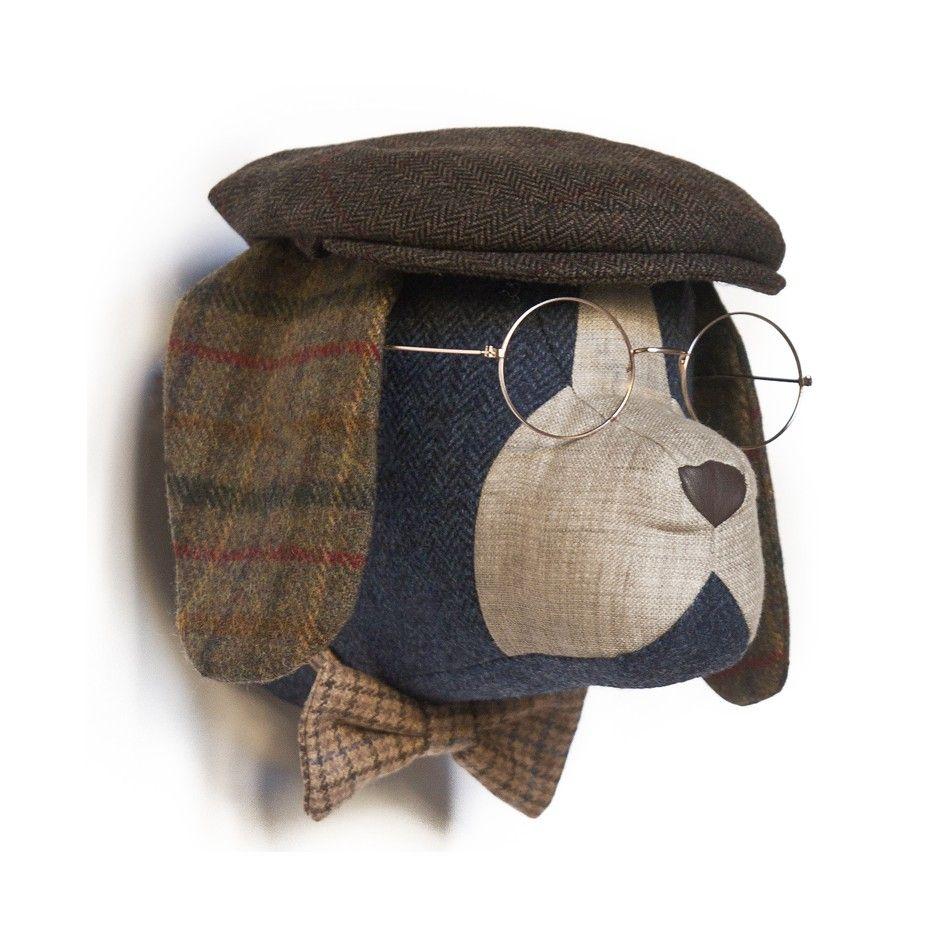 Soft beagle rupert manualidades cabezas de animales trapillo y manualidades - Cabezas animales tela ...