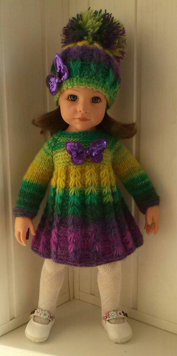 платье и шапка | Куклы Готц | Doll clothes, Knitted dolls ...