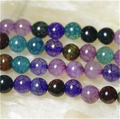 Natural 6mm Mix Color Dragon Veins Agate Gem Round Loose Bead 15''AAA HG016 | eBay