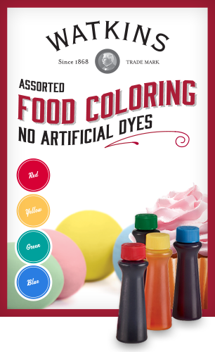 Watkins natural, plant based food coloring is free from artificial ...