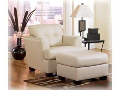 Shop For Signature Design Durablend Ivory Ottoman Si9460214 And