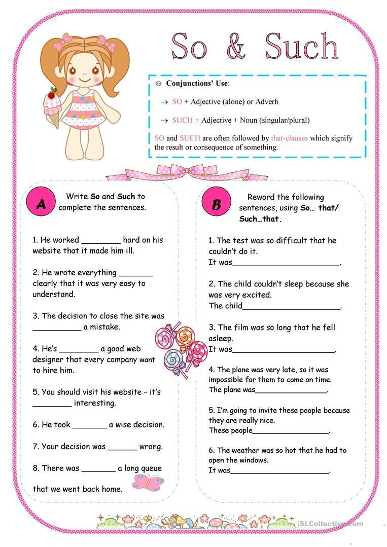 So Amp Such Worksheet Free Esl Printable Worksheets Made By Teachers Nouns And Adjectives Confusing Words Elementary School Activities [ 1079 x 763 Pixel ]