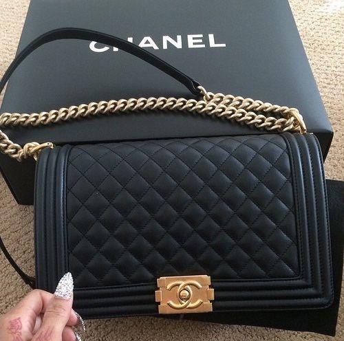 b8092b1ec8a6 Chanel Bag Classic, Black Chanel Purse, Chanel Le Boy, Chanel Chain Bag,