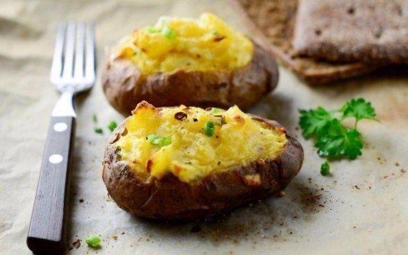 Zapekané zemiaky so smotanovou plnkou