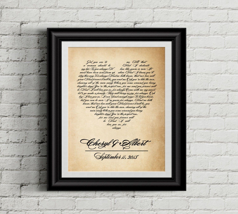 Wedding song art, Wedding song lyrics, Wedding song gift