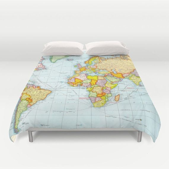 World map duvet cover vintage map duvet cover geography duvet world map duvet cover vintage map duvet cover geography duvet cover gumiabroncs Image collections