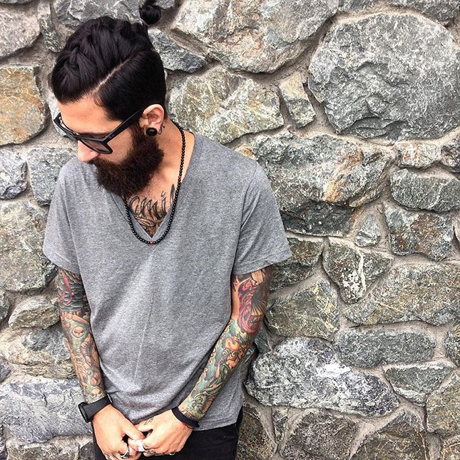 The latest mens hair trend is the new man bun ccuart Gallery
