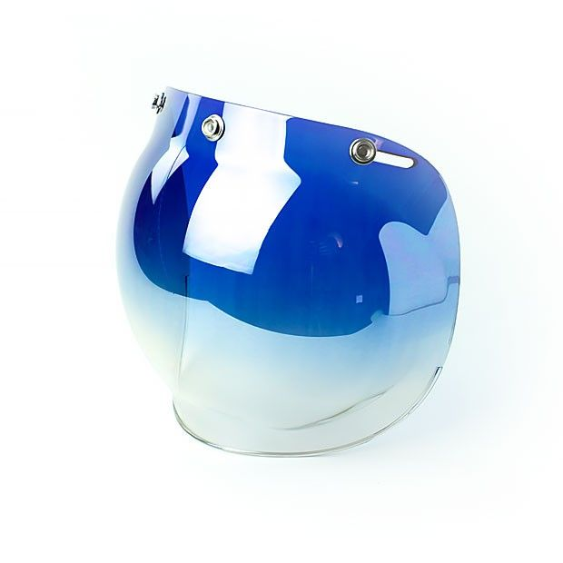 #Blue #mirrorized #helmade #BubbleVisor to style up your #helmetdesign. Get yours on www.helmade.com More than 15 colors and lots of other #helmetaccessories.