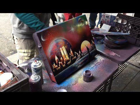 AMAZING SPRAY PAINT ART IN NEW YORK CITY - YouTube