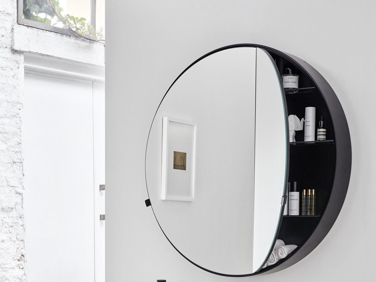 Round Wall Mounted Mirror With Cabinet I Catini Round Box By Ceramica Cielo Round Mirror Bathroom Bathroom Remodel Cost Wall Mounted Mirror