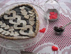 Crostata vegan e gluten free con farina di grano s - San Valentino Ricette #magariungiorno