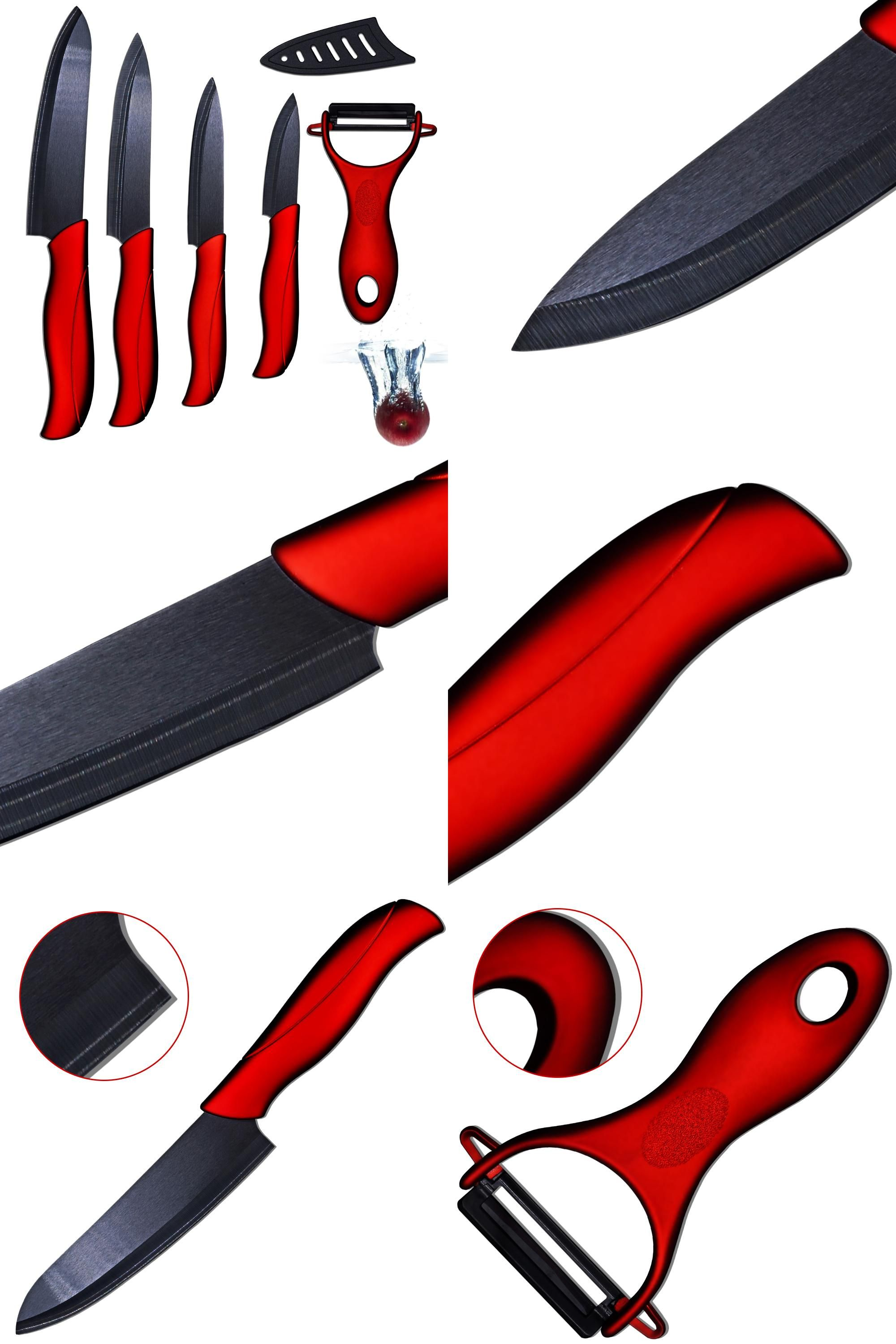 Visit To Buy Ceramic Knife 3 Paring 4 Utility 5 Slicing 6 Chef Knife And One Sharp Black Balde Red Handl Ceramic Knife Knife Set Kitchen Kitchen Knives