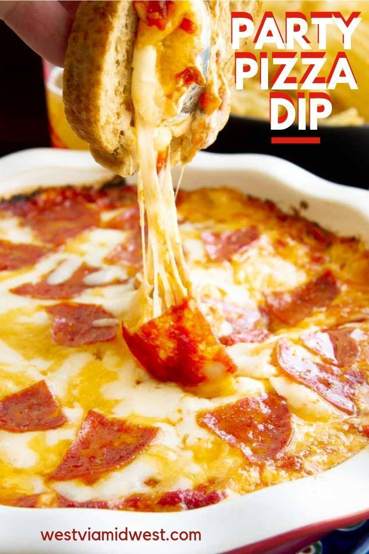 Photo of These cheesy pepperoni party dip was a huge hit for a football party. Make ahead…