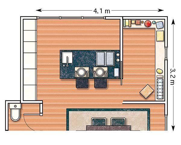 Doce cocinas con barra y sus planos planos cocinas y for Planos de cocinas grandes