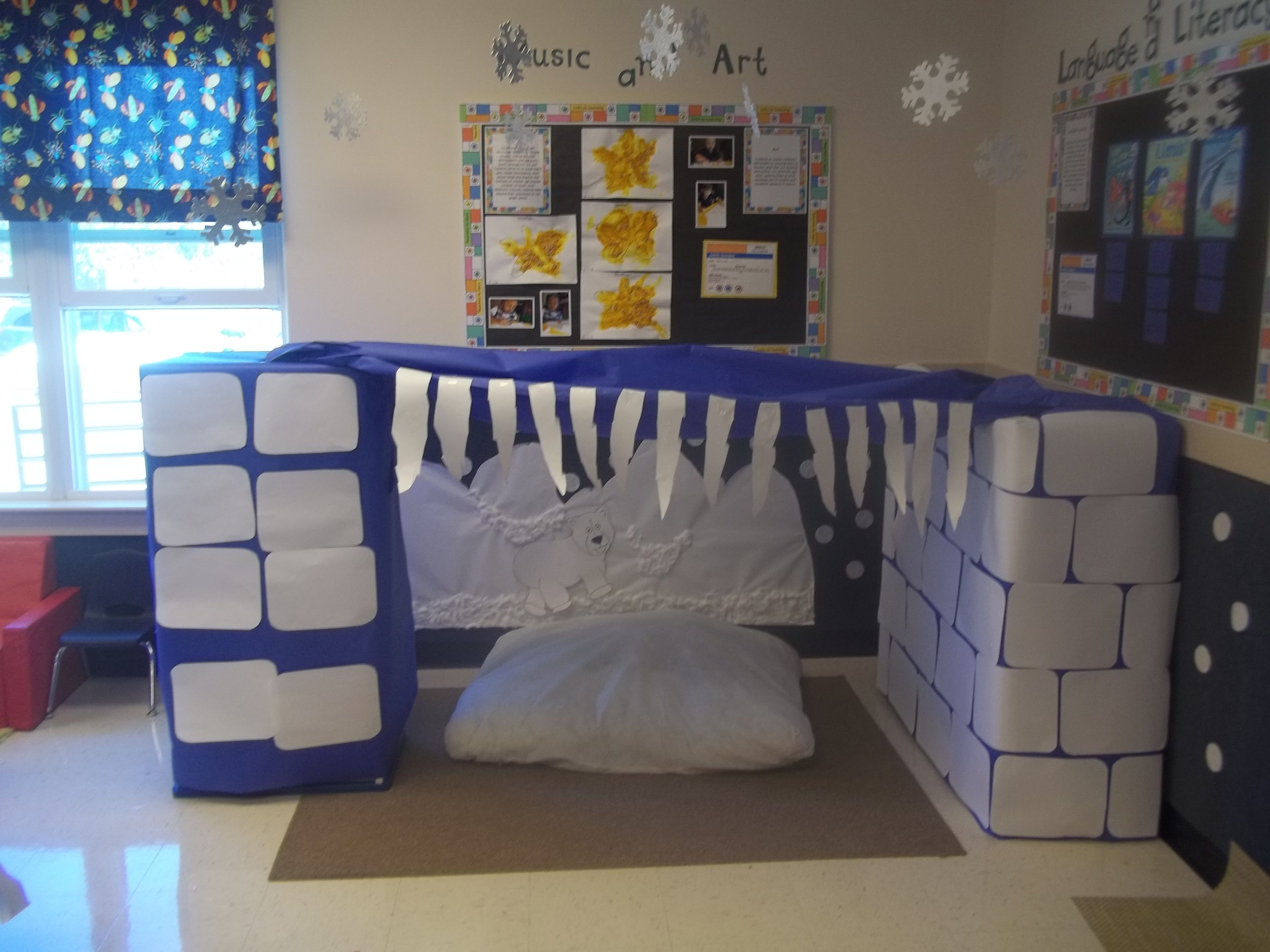 Winter Dramatic Play Station Use Separate Boxes So Other